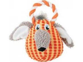 Hračka pes BARBARA VELVET plyš oranžová 31cm Zolux