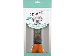 Dokas - Kost z hovězí kůže s lososem - 15 cm