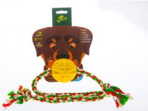 Baxter provaz s míčkem 7,2 cm - žlutý