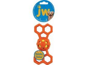 JW Hol-EE Děrovaná kost s míčkem pískací Small
