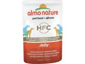 Almo Nature Classic Jelly WET DOG - Kuře a dýně v želé 70g