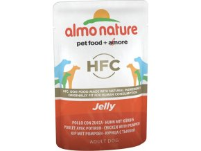 Almo Nature Classic Jelly WET DOG - Kuře a dýně v želé 70g