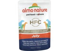 Almo Nature Classic Jelly WET DOG - Tuňák a mrkev v želé 70g