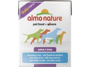 Almo Nature Daily Menu WET DOG - Tuňák a rýže 375g tetrapack