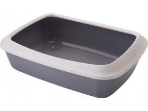 Savic Isis Large šedá toaleta pro kočky s okrajem 50x37x14cm