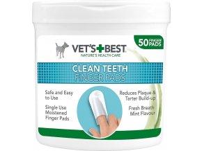 """Vet's Best - """"ČISTÉ ZUBY"""" - vlhčené ubrousky na čištění zubů 50ks"""