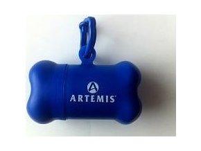 Zásobník na sáčky kost Artemis modrá