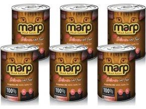Marp Pure Salmon CAT Can Food 370g - 6ks multipack