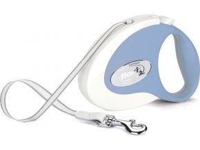 Flexi Collection M pásek 5m/25kg modrá/bílá