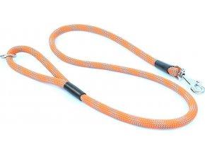 Vodítko Aminela lanové - serie G, délka 150cm, síla 14mm, oranžová/šedá