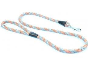 Vodítko Aminela lanové - serie G, délka 150cm, síla 14mm, šedá/oranžová