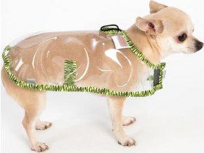 """Obleček - Pláštěnka """"Bella"""" průhledná zebra zelená 24 cm"""