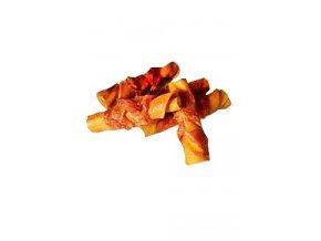Want Dog poch. Hovězí rolka 8 cm s kuř.masem 300g