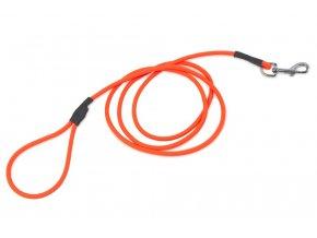 firedog biothane dog leash rounded 8mm with handle orange 34796
