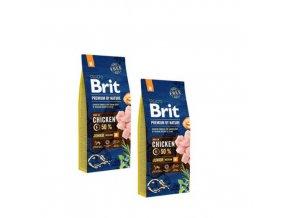 Brit Premium dog by Nature Junior M 2x15kg