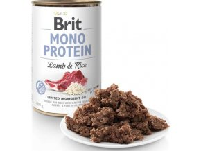 Brit Dog konz Mono Protein Lamb & Brown Rice 400g