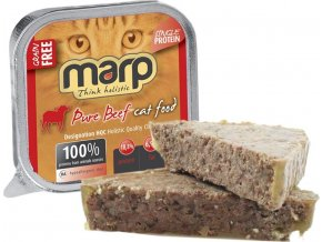 Marp Pure Beef CAT Can Food 16x100g (15 + 1 ZDARMA)