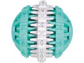 DENTAfun míč s mátou zeleno/bílý 6cm