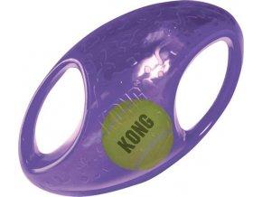 Hračka guma + tenis Jumbler míč rugby Kong medium/large
