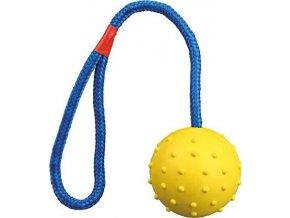 Vrhací míč hrbolatý na šňůře 6cm/30cm
