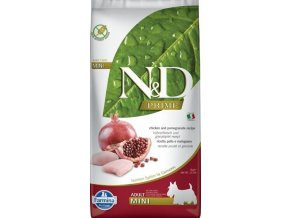 Farmina N&D dog GF adult mini kura & granátové jablko 7 kg