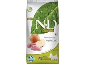 Farmina N&D dog GF adult mini diviak & jablko 7 kg