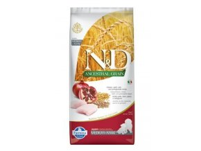N&D LG DOG Puppy M/L Chicken & Pomegranate 2,5kg