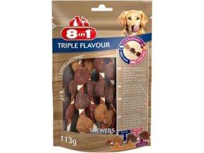 Pochoutka 8in1 Triple Flavour skewers (6ks)
