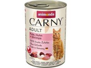 ANIMONDA konzerva CARNY Adult - krůta, kuře+ráčci 400g