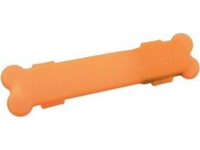 Flash USB svítící silikonový návlek 15 x 2,5 cm oranžový