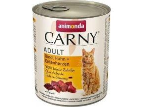 ANIMONDA konzerva CARNY Adult - hovězí,kuře+ kach.srdce 800g