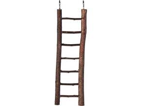 Natural Living dřevěný žebřík přírodní dřevo 7 příček/30 cm
