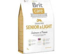 NEW Brit Care Grain-free Senior & Light Salmon & Potato 3kg