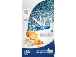 N&D OCEAN DOG LG Adult Mini Codfish & Orange 800g