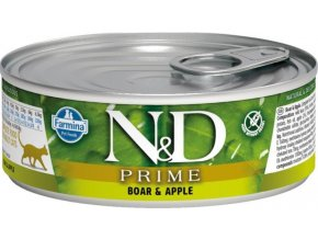 N&D CAT PRIME Adult Boar & Apple 80g  Kup 1ks a přidám ti 1ks ZDARMA!