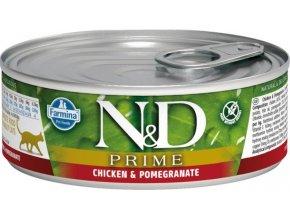 N&D CAT PRIME Adult Chicken & Pomegranate 80g  Kup 1ks a přidám ti 1ks ZDARMA!
