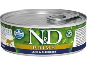 N&D CAT PRIME Adult Lamb & Blueberry 80g  Kup 1ks a přidám ti 1ks ZDARMA!