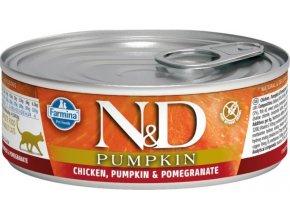 N&D CAT PUMPKIN Adult Chicken & Pomegranate 80g  Kup 1ks a přidám ti 1ks ZDARMA!