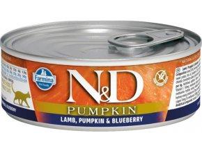 N&D CAT PUMPKIN Adult Lamb & Blueberry 80g  Kup 1ks a přidám ti 1ks ZDARMA!