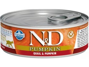 N&D CAT PUMPKIN Adult Quail & Pumpkin 80g  Kup 1ks a přidám ti 1ks ZDARMA!