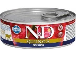 N&D CAT QUINOA Adult Digestion Lamb & Fennel 80g  Kup 1ks a přidám ti 1ks ZDARMA!