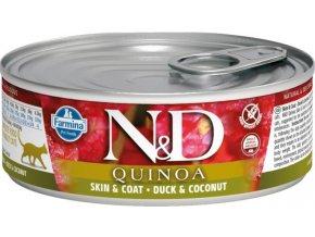 N&D CAT QUINOA Adult Duck & Coconut 80g  Kup 1ks a přidám ti 1ks ZDARMA!