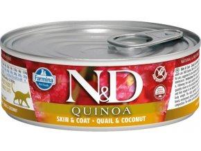 N&D CAT QUINOA Adult Quail & Coconut 80g  Kup 1ks a přidám ti 1ks ZDARMA!