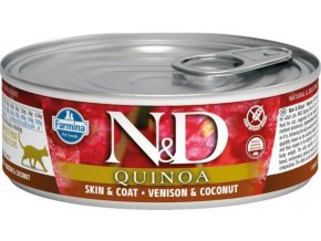 N&D CAT QUINOA Adult Venison & Coconut 80g  Kup 1ks a přidám ti 1ks ZDARMA!