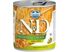 N&D DOG LOW GRAIN Adult Boar & Apple 285g  Kup 1ks a přidám ti 1ks ZDARMA!
