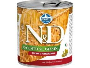 N&D DOG LOW GRAIN Adult Chicken & Pomegranate 285g  Kup 1ks a přidám ti 1ks ZDARMA!
