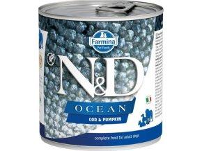 N&D DOG OCEAN Adult Codfish & Pumpkin 285g  Kup 1ks a přidám ti 1ks ZDARMA!
