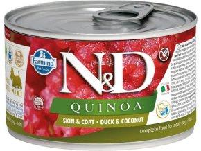 N&D DOG QUINOA Adult Duck & Coconut Mini 140g  Kup 1ks a přidám ti 1ks ZDARMA!