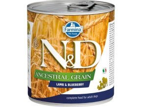 N&D DOG LOW GRAIN Adult Lamb & Blueberry 285g  Kup 1ks a přidám ti 1ks ZDARMA!