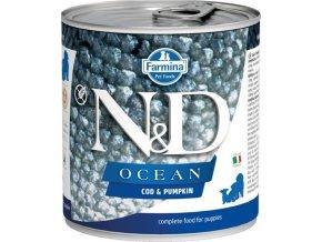 N&D DOG OCEAN Puppy Codfish & Pumpkin 285g  Kup 1ks a přidám ti 1ks ZDARMA!